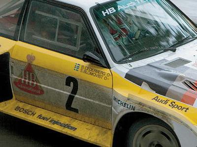 かつてのグループBマシーンに標記されたドライバーと血液型