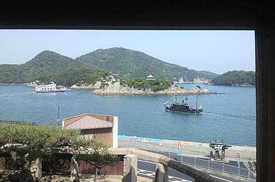 対潮楼から見る仙酔島