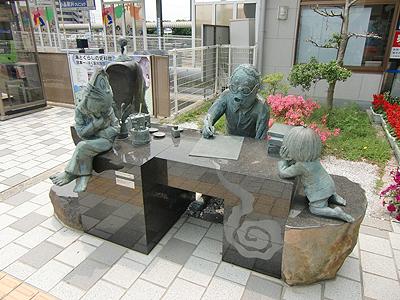 鬼太郎駅前(境港駅)の水木しげるロード起点