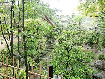 茶室前の庭園(表門家側)