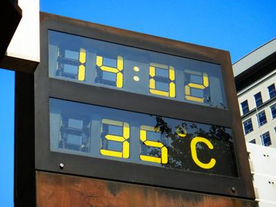 夏の気温表示