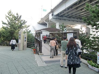 大鳴門橋遊歩道-渦の道への入口