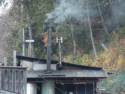 原田温泉の煙突