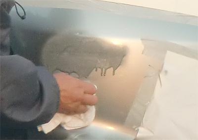 塗料がタレてるしぃ~!