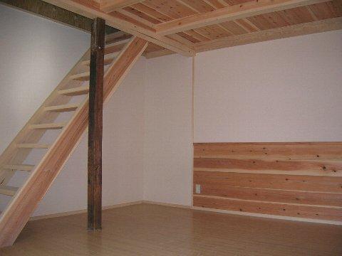 杉無垢板階段