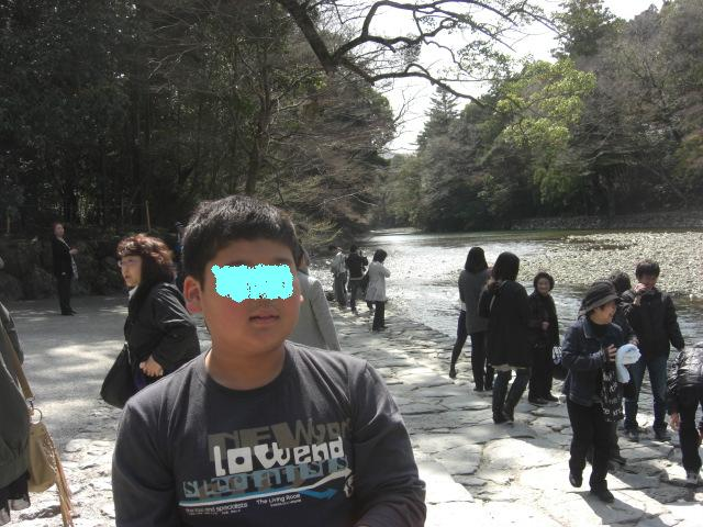 五十鈴川でお清め