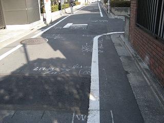 目白区道再舗装