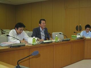 天野主幹さんは議会対応の忙しい中ご説明下さいました