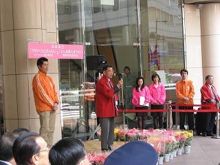 開会式-荻村区商連副会長さんの開会挨拶