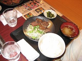 仙台の牛タン定食のボリュームに驚愕0708