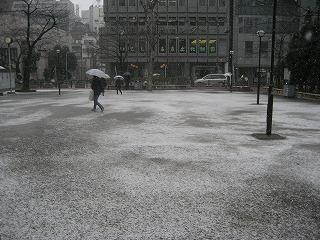 中池袋公園の雪