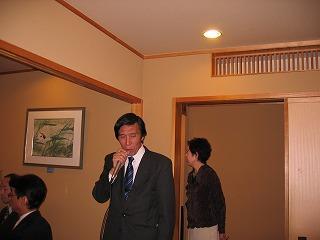 第6地区育成の飯泉会長さんの挨拶