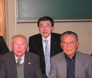 福寿会H会長さんと長橋孝さんと同級生のT大先輩