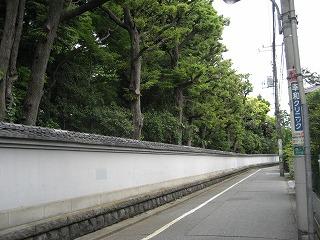 旧古河庭園の裏の土塀
