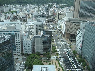 市役所から三宮駅・山の手方向