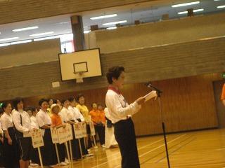 選手宣誓-バレーボールの代表