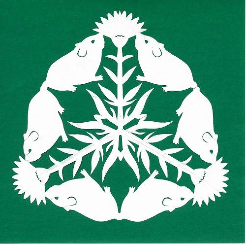 img024ハムスターと花