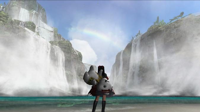 虹がキレイ♪