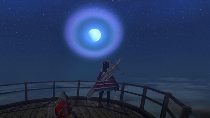 お月さんが綺麗
