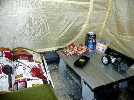 テント内でもくつろぎ