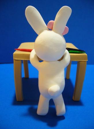 ペン子ウサギ後ろ