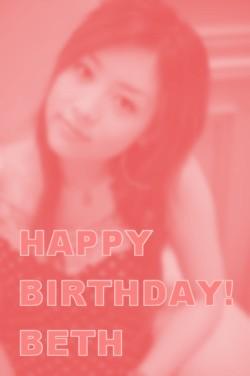 誕生日おめでとうベス