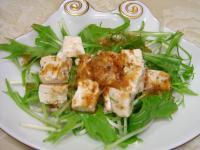090122水菜とうふおかかサラダ