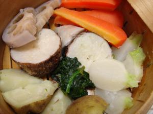 090124蒸し野菜のアップ