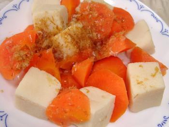 090211にんじんと高野豆腐煮