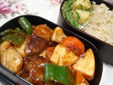 090310酢鶏野菜弁当