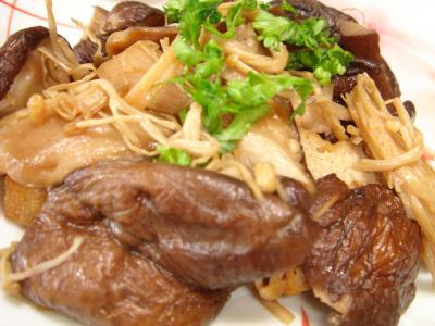 090515しいたけの中華炒め煮
