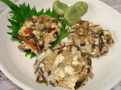 090517豆腐ととろろ芋の落とし焼き