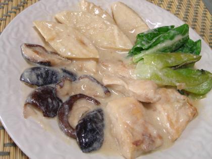 090521たけのこと鶏のクリーム煮