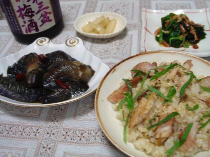 090724鯵の干物の混ぜご飯セット1