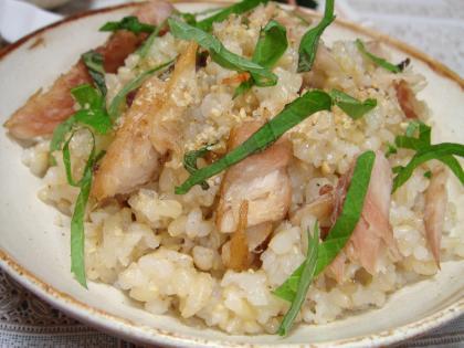 090724鯵の干物の混ぜご飯