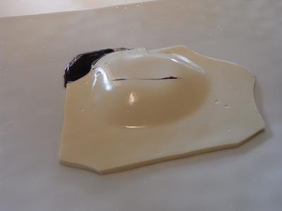 自家製豆腐のラヴィオリ 黒トリュフとフォンドヴォーのソース