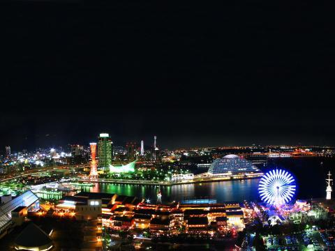 ハーバーランドとメリケンパークの夜景