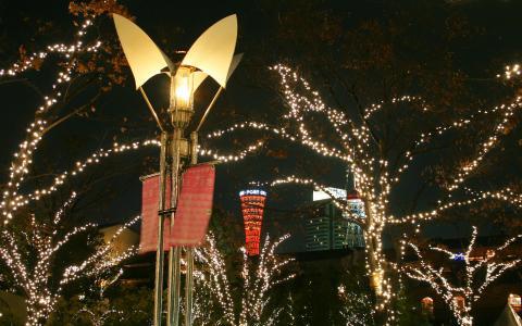 神戸ガス燈通りのイルミネーション
