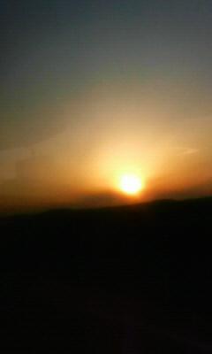 夕日釧路~帯広
