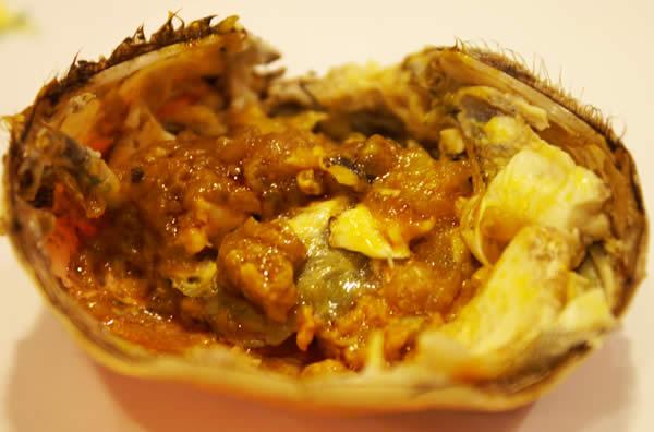 蟹王府蟹味噌と甲羅