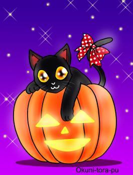 08ハロウィン~ネコとかぼちゃ2