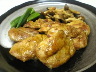 鶏肉のカレー照り焼き