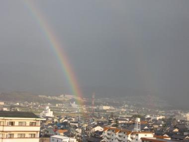 虹が2本見えました