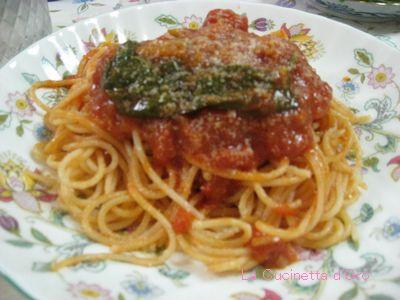 トマトとバジリコのスパゲッティー