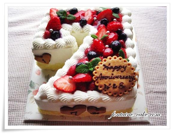 結婚7周年ケーキ