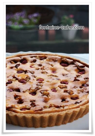 木苺と胡桃のチーズタルト
