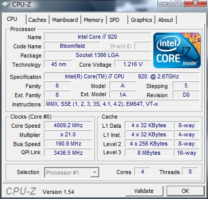 cpu-z 4G動作証明 20100705