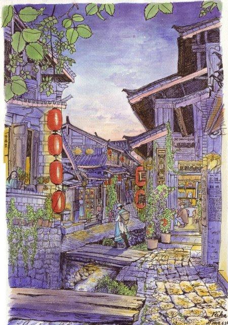 夕暮れの麗江(最終版)