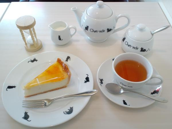 ケーキと紅茶のセット