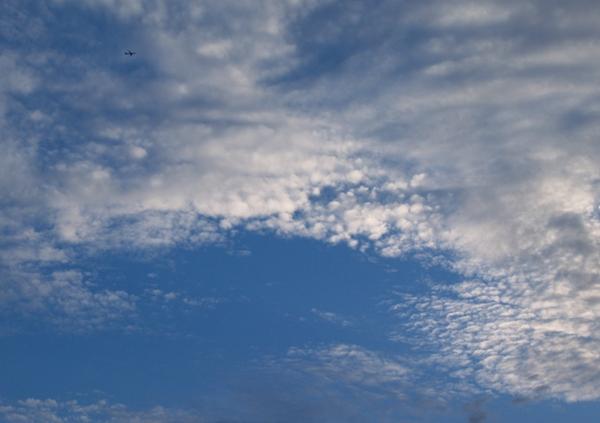 空に飛ぶ。